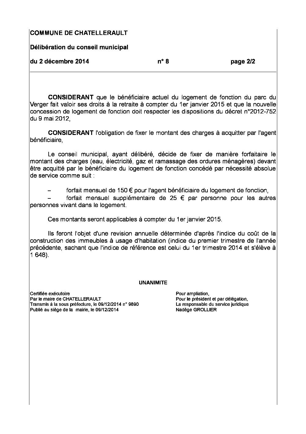 8 Logement De Fonction Montant Des Charges Pdf Recherche