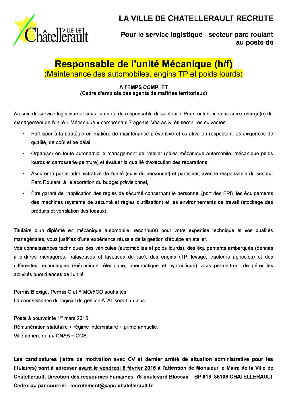 2015 Resp Unité Mécanique Pdf Recherche Ville De