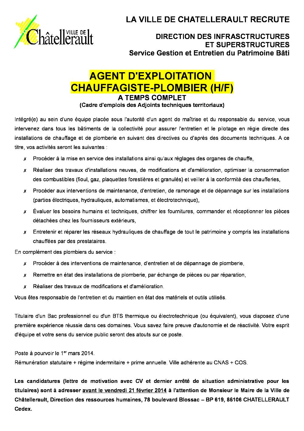 2014 Chauffage Pdf Recherche Ville De Chatellerault Fr
