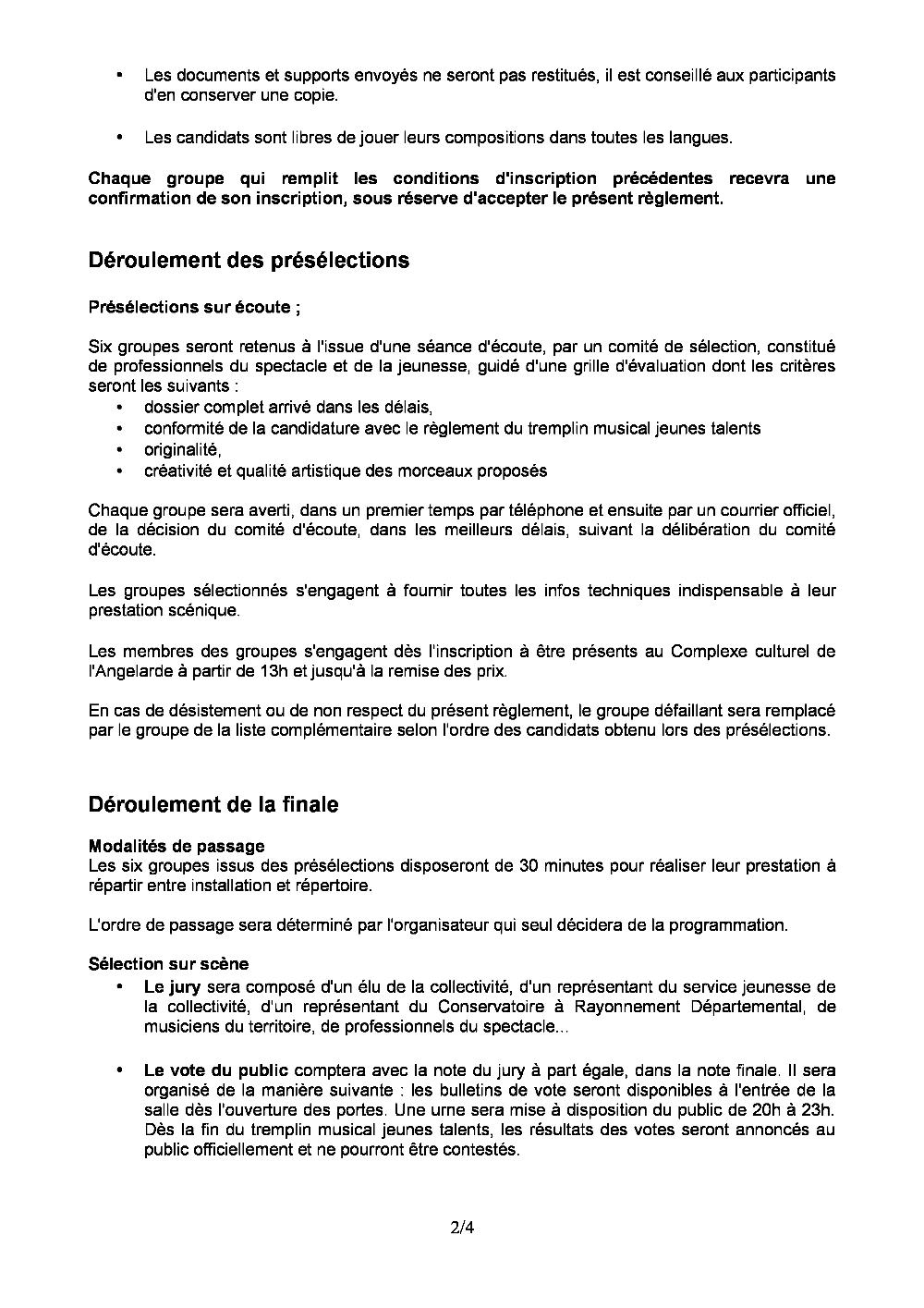Reglttremplin2013 Corr Pdf Recherche Ville De Chatellerault Fr
