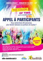 visuel flyer Appel à bénévoles The Color of time  2018